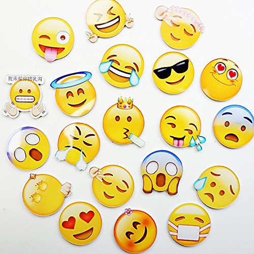 Raleighsee 10 Pack Emoji Refrigerator Fridge Magnets Magnetic Stickers Creative Cute Animal Cartoon Early Education Soft Rubber Magnetite(Random Packing)