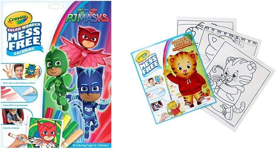 Daniel Tigers Neighborhood 18 Mess Free Coloring Pages Kids Indoor Activities At Home Crayola Lion King Pages Markers Color Wonder Pad And Markers Multicolor Color Wonder Coloring Pens Markers