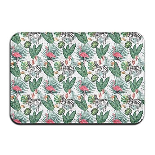Nature Flamgo Plam Zebra Outdoor Bathroom Mats 2416 Inch Floor Mat