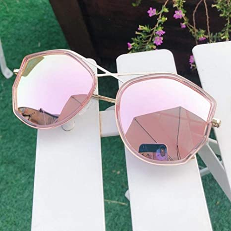 H-O 2019 Gafas de Sol Femeninas Caja Grande Gafas polígono ...