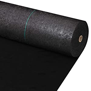 Amagabeli 3ft x 100ft Weed Barrier Landscape Fabric 5.8oz Heavy Duty Ground Cover Weed Cloth Geotextile Fabric Durable Driveway Cover Garden Lawn Fabric Outdoor Weed Mat