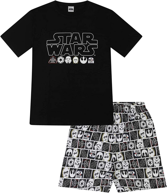 Disney Pigiama corto in cotone con personaggi di Star Wars da uomo