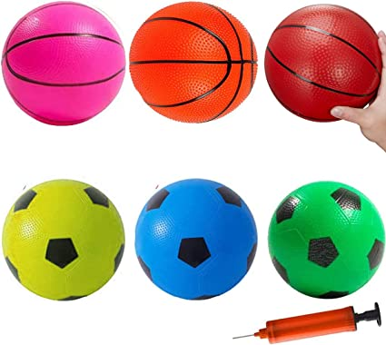 1x Children Kids 16cm Mini Basketball Inflatable Toy Indoor//Outdoor Sports Ball