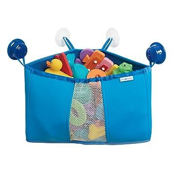 Beau MDesign Corner Kids And Baby Suction Shower Caddy, Bath Toy Organizer   Blue