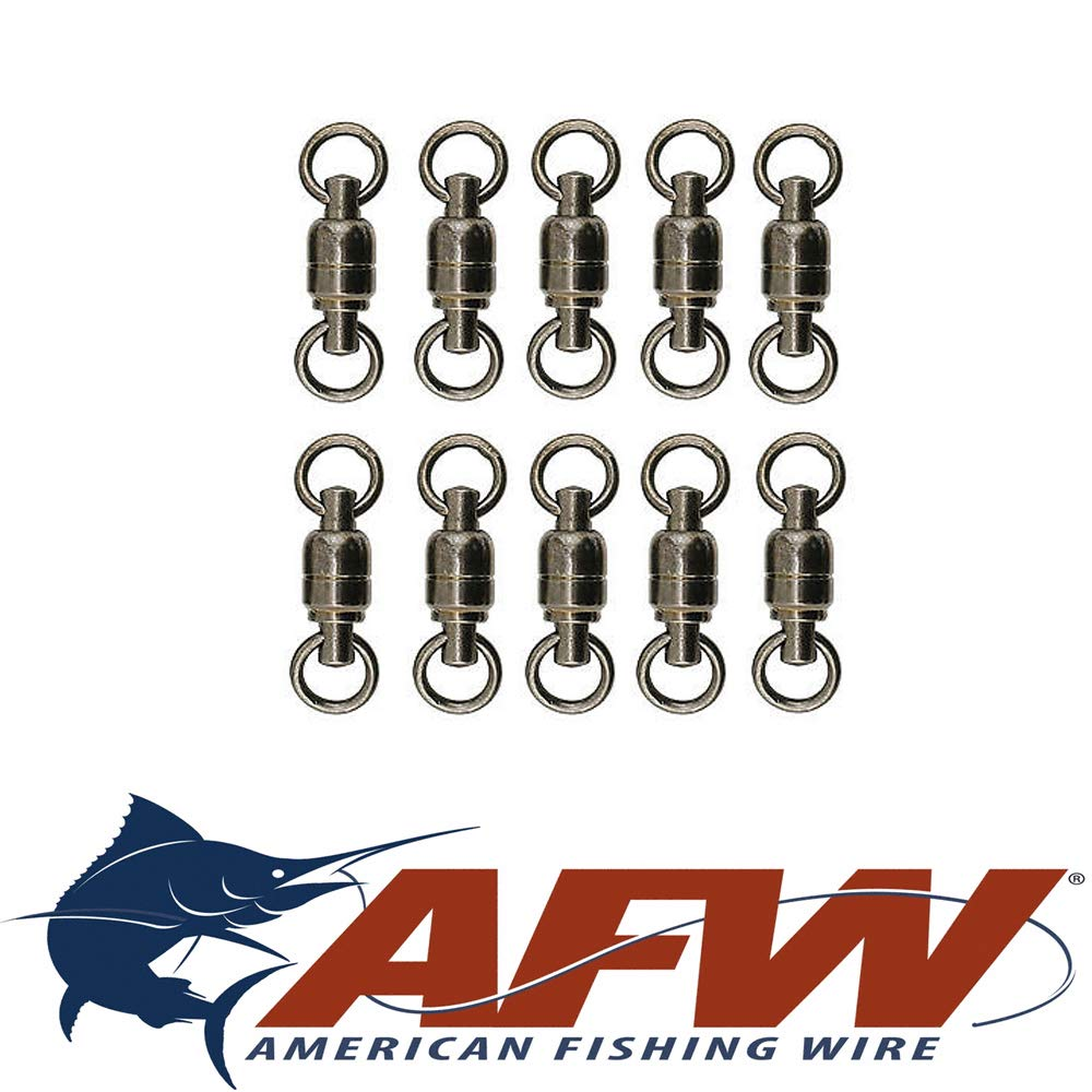# 3 130lb AFW American釣りワイヤボール軸受Swivel BB Swivels Leaders数量10   B0781WD6CK