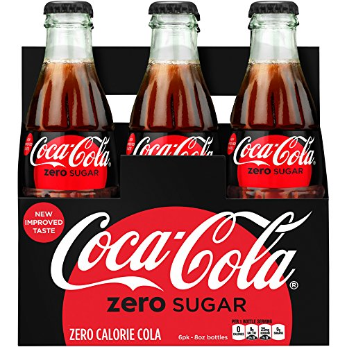 (Coca-cola Zero Sugar 8oz Glass Bottles 4-6 Packs (24 Bottles) Coke)