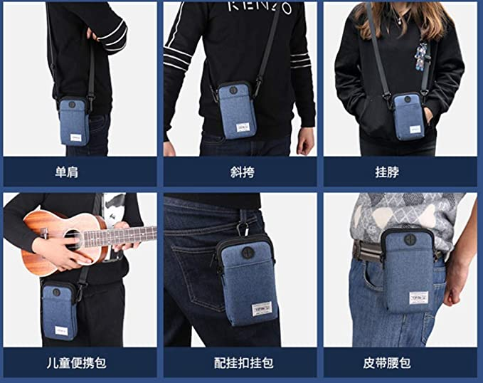 Amazon.com   bettergoods one Multinational Outdoor Sport 3 Layers Zipper  Storage Crossbody Cell Phone Purse Waterproof Moblie Phone Wallet Shoulder  Bag ... 8769cd3d2785f