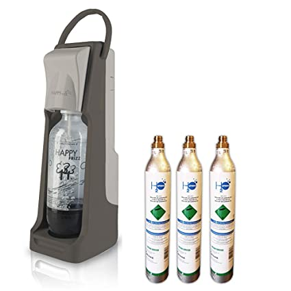 carbonatador Agua Happy Frizz STRONG + 3Â BOTT. + 3Â bombonas co2Â de 450Â gr