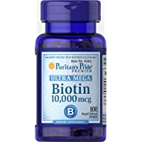 Puritan's Pride Biotin 10,000 mcg, Softgels, 100ct