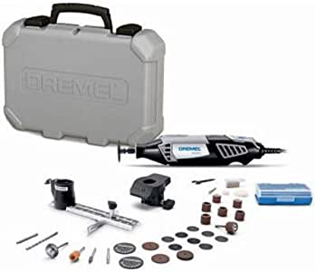Dremel 4000-2/30 High Performance Rotary Tool Kit- 2 Attachments & 30 Accessories- Grinder, Sander, Polisher, Router, and Engraver- Perfect for Routing, Metal Cutting, Wood Carving, and Polishing, Black, Full Size