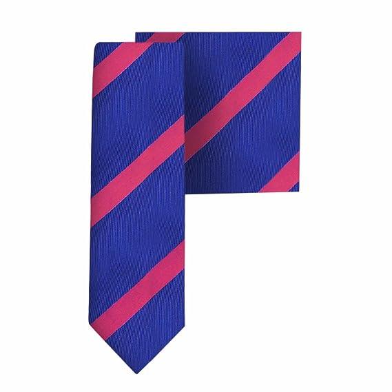 Conjunto corbata estrecha & pañuelo de bolsillo navy con ...