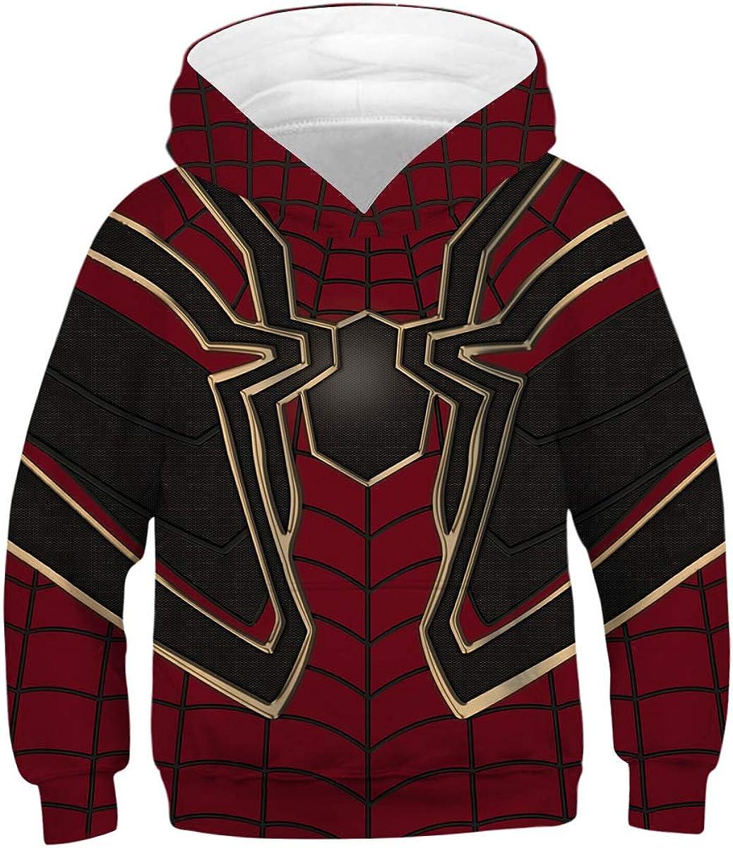 : Kids Sweatshirts Spider man Pullover Fleece