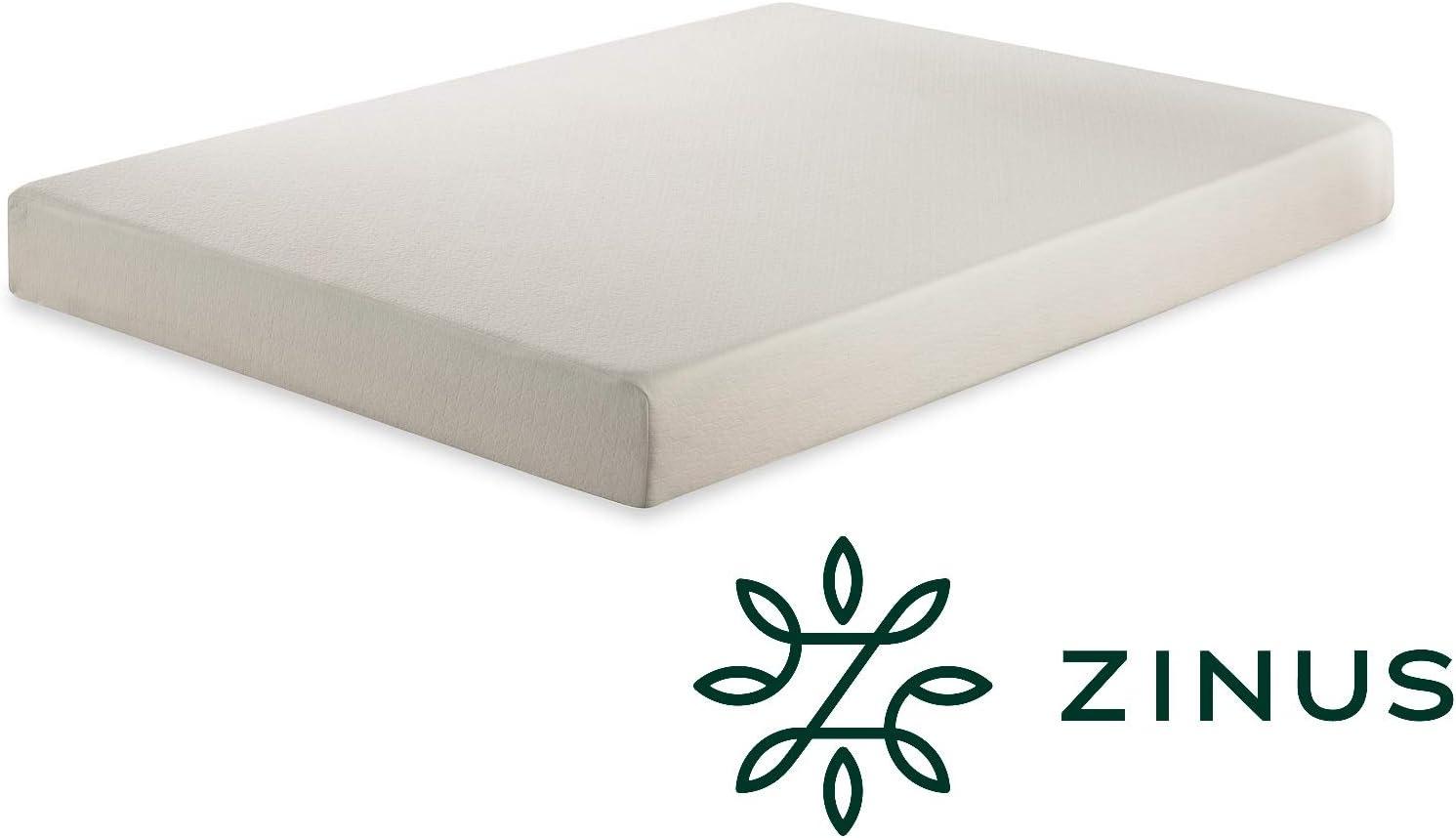 Zinus Materasso Singolo in Memory Foam 80x190x25cm Certificato Oeko-Tex
