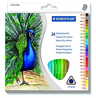 STAEDTLER Triangular Coloured Pencil, 24 Pack (1270 C24A6) (B00SMPEOY8) | Amazon Products