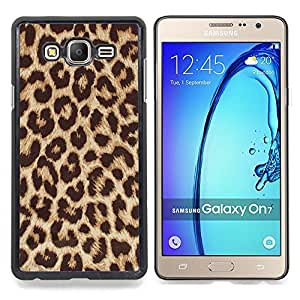 """S-type Patrón de oro de Brown Animal"""" - Arte & diseño plástico duro Fundas Cover Cubre Hard Case Cover For Samsung GALAXY On7 / GALAXY O7 /GALAXY Mega O7 / G6000 / G600FY"""