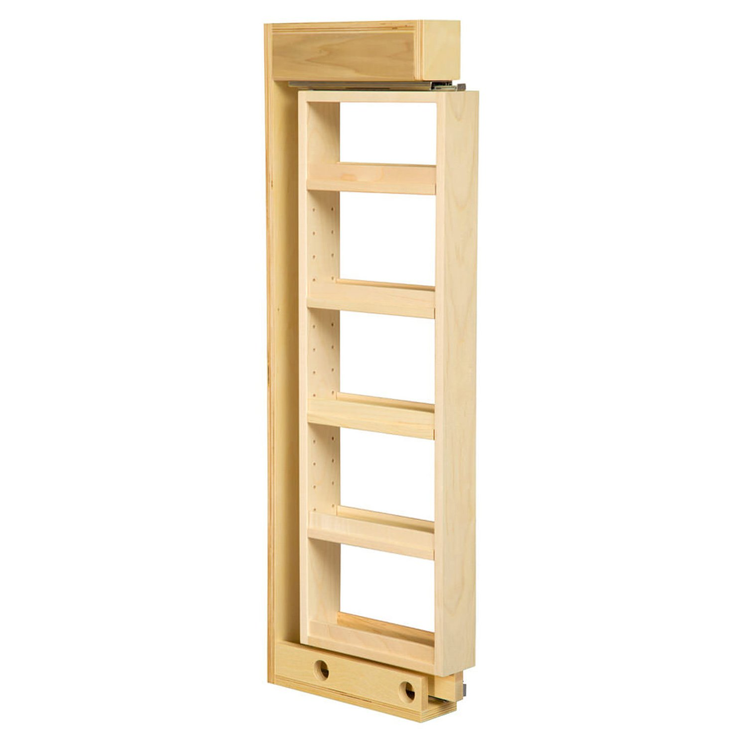 Century Components 3'' Maple Wall Filler with 4 Adjustable Shelves & Slides 3 x 36 x 11