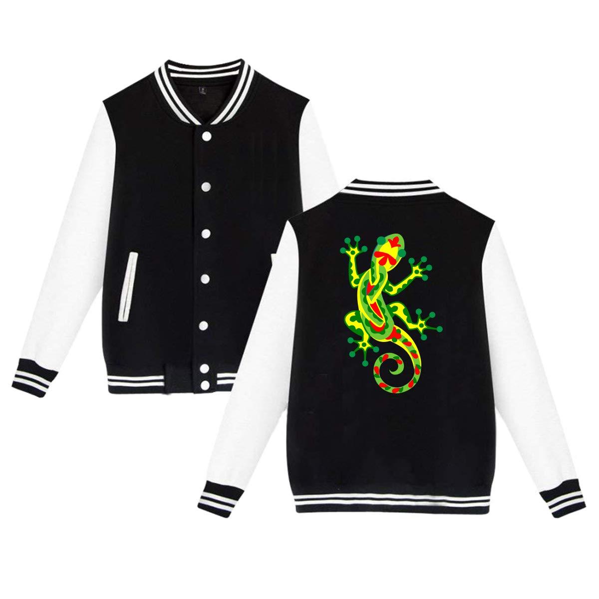 MF SFLK Rasta Gecko Raggae Baseball Jacket Uniform Unisex Sweater Coat