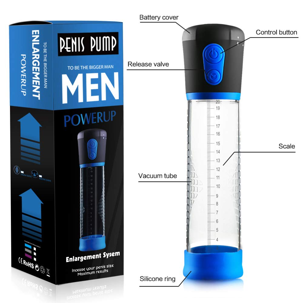 Male Enlargement Vacuum Pump for Man, Vacuum Suction Pumps Enlargement, Powerful Mens Vacuum Profession Extender, Massager for Handsome (Electric Pump)