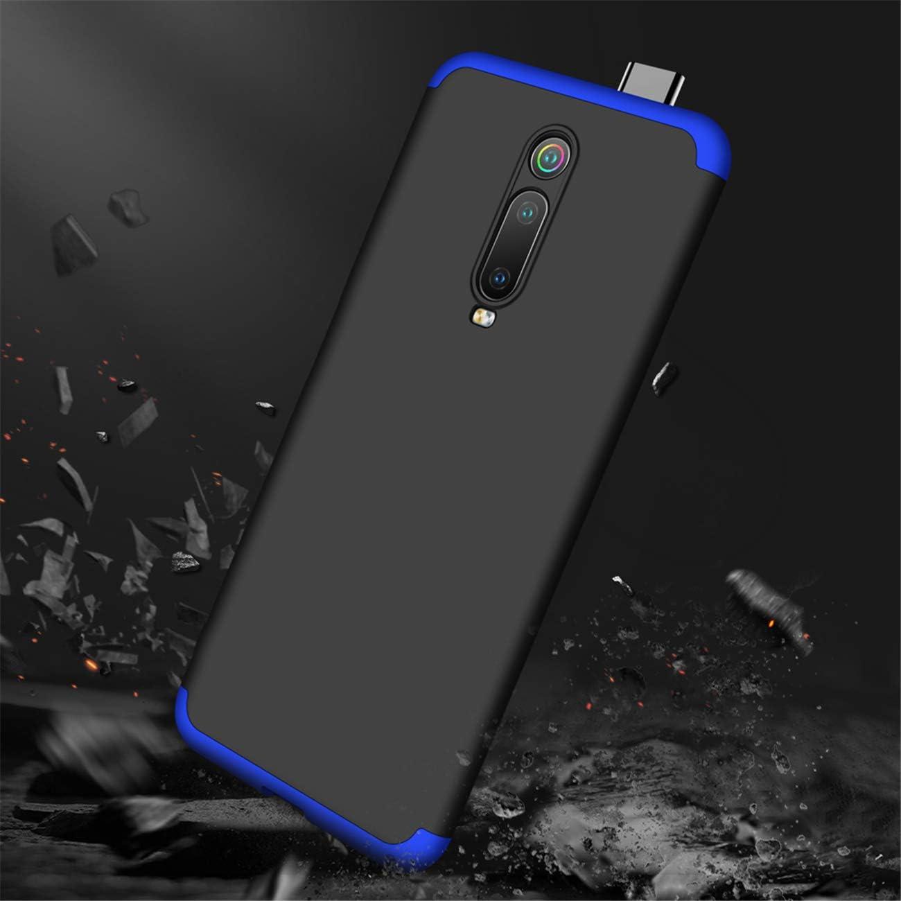 DECHYI Compatible pour Coque Samsung Galaxy A80,Cover Verre tremp/é Matte Ultra Slim Cover PC Hard Case Noir