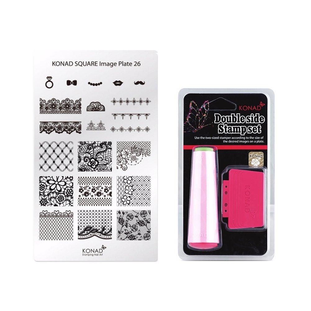 Amazon. Com: konad nail art 4 image plates to create beautiful.