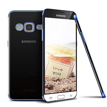 Jinghuashh Funda Compatible con Galaxy J5 2016,Transparente ...
