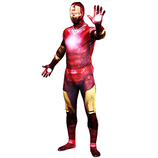 QQWE Traje de Cosplay de Iron Man Marvel Super Hero Zentai Disfraz ...