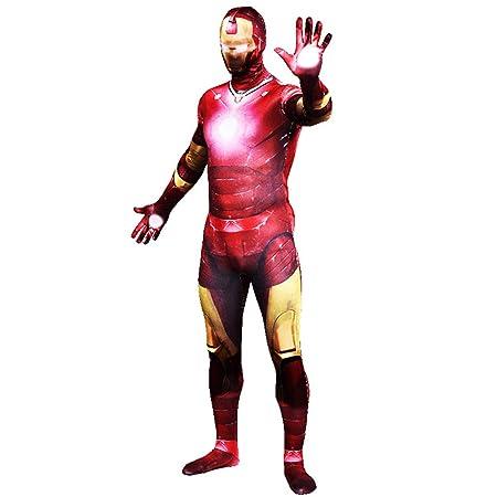 QQWE Traje de Cosplay de Iron Man Marvel Super Hero Zentai ...