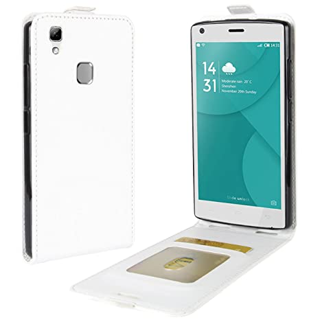 HualuBro Funda Doogee X5 MAX, Carcasa de Protectora Cuero PU Billetera Cartera Funda [Cierre Magnético] Flip Leahter Wallet Phone Case Cover para ...