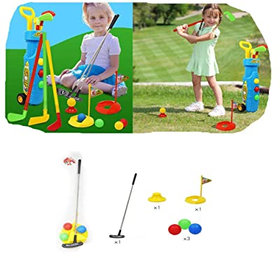 Langle Children Golf Toy Set Outdoor Indoor Kids Puzzle Parent-Child Sports Toy: Clothing