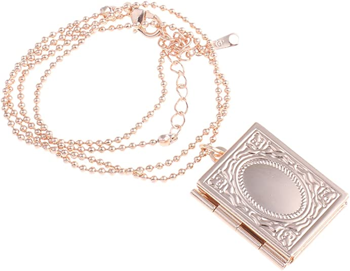 Style Target Ladies Jewellery Set Necklace Locket Photo Locket Book Locket Pendant Ball Necklace 18 K Rose Gold Plated 47 Cm 2077 Amazon Co Uk Jewellery
