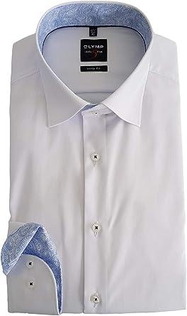 OLYMP - Camisa formal - Cuello italiano - para hombre Blanco ...