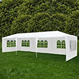 ORKAN 10'x30' Canopy Party Wedding Tent Outdoor Gazebo Heavy Duty 5 Sidewall