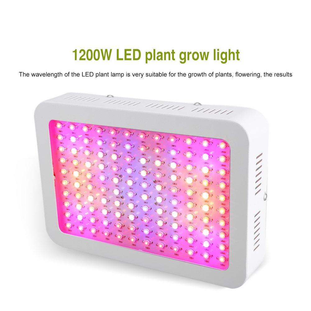 Cocoarm L/ámpara de Crecimiento LED Cultivo 120W Vida /útil 50000H Lampara Cultivo Talla Grande Grow Light con 120 Piezas LED con Alambre Colgante para Armario Cultivo Interior