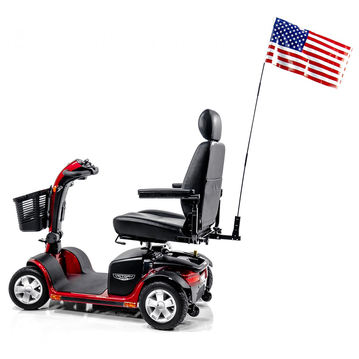 Scooter Patriotic Safety Flag Assembly for Most Pride, Golden, Challenger Mobility Scooter