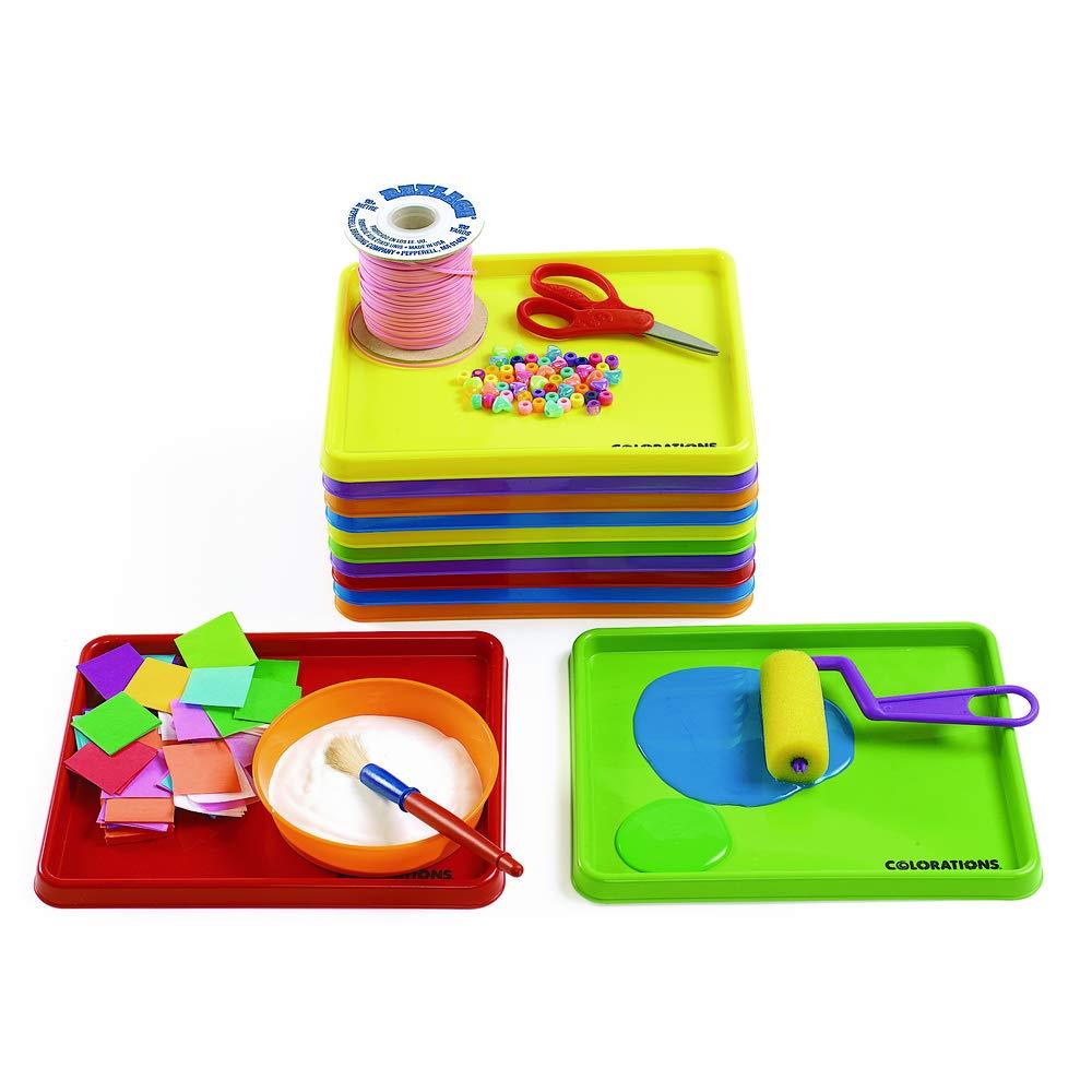 Colorations Mini Art Trays - Set of 12 (Item # MTRAY)
