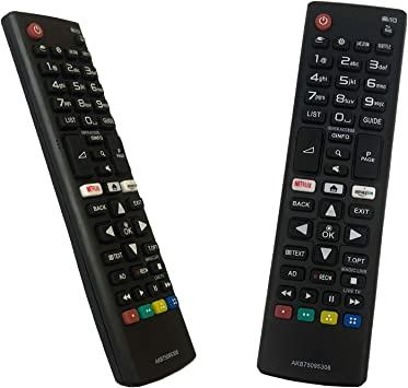 iLovely Reemplazo Control Remoto Universal AKB75095308 para LG TV: Amazon.es: Electrónica