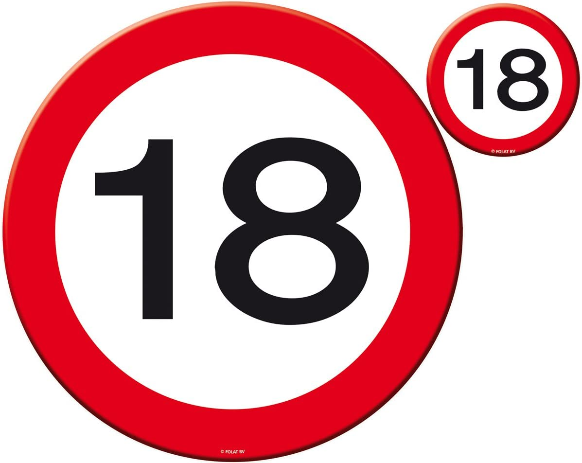 Traffic Sign 40th Party Banner 12M Birthday Decoration