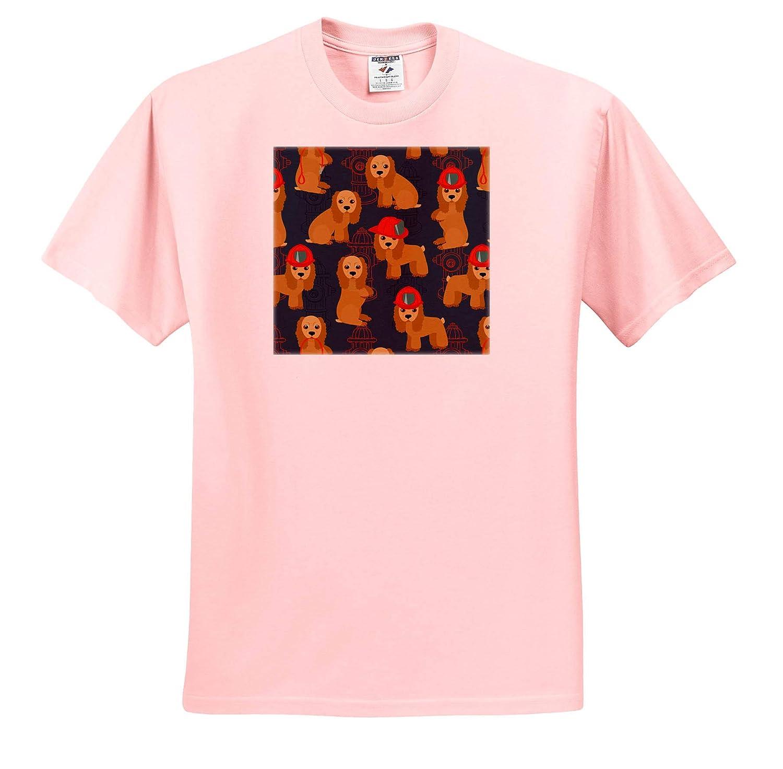 ts/_319878 Cocker Spaniel Firefighter Dogs 3dRose Janna Salak Designs Dogs Adult T-Shirt XL