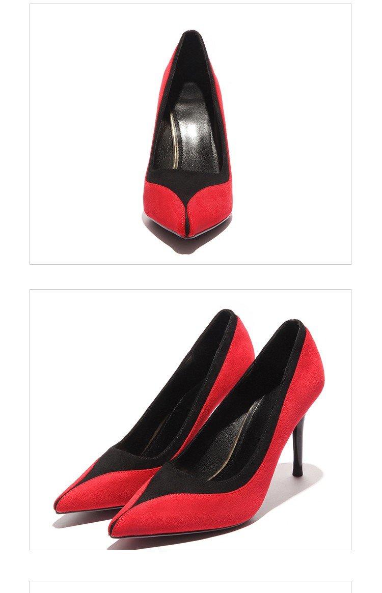 HRCxue Die high-heel Schuhe Mode Mode Mode buchstabiere Farbe tipp Licht von Frauen Schuhe minimalistischen Set foot single Schuhe Frauen fein mit 36 873f72