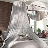 Palace Stent Hanging Ceiling Mosquito Nets/Princess Wind Fashion Dome Mosquito Nets/Simple Landing,Encrypted Home Mosquito Net-A B