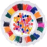 KUUQA ぷよぷよボール 水で膨らむ 単色 包装 スーパーボールすくいセット (24パック)