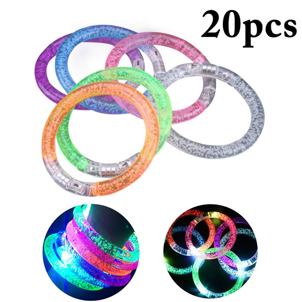 Funpa 20PCS Light up Bracelet LED Flash Bracelet Party Bracelet for Kids