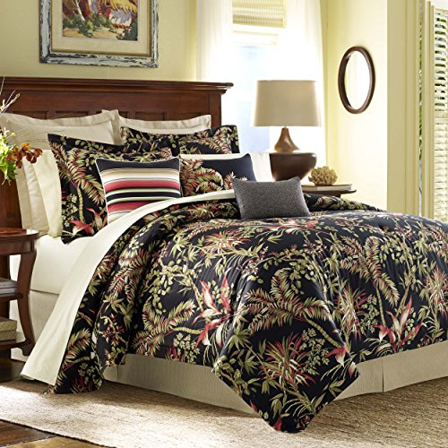 Tommy Bahama Jungle Drive Comforter Set, California King, Black