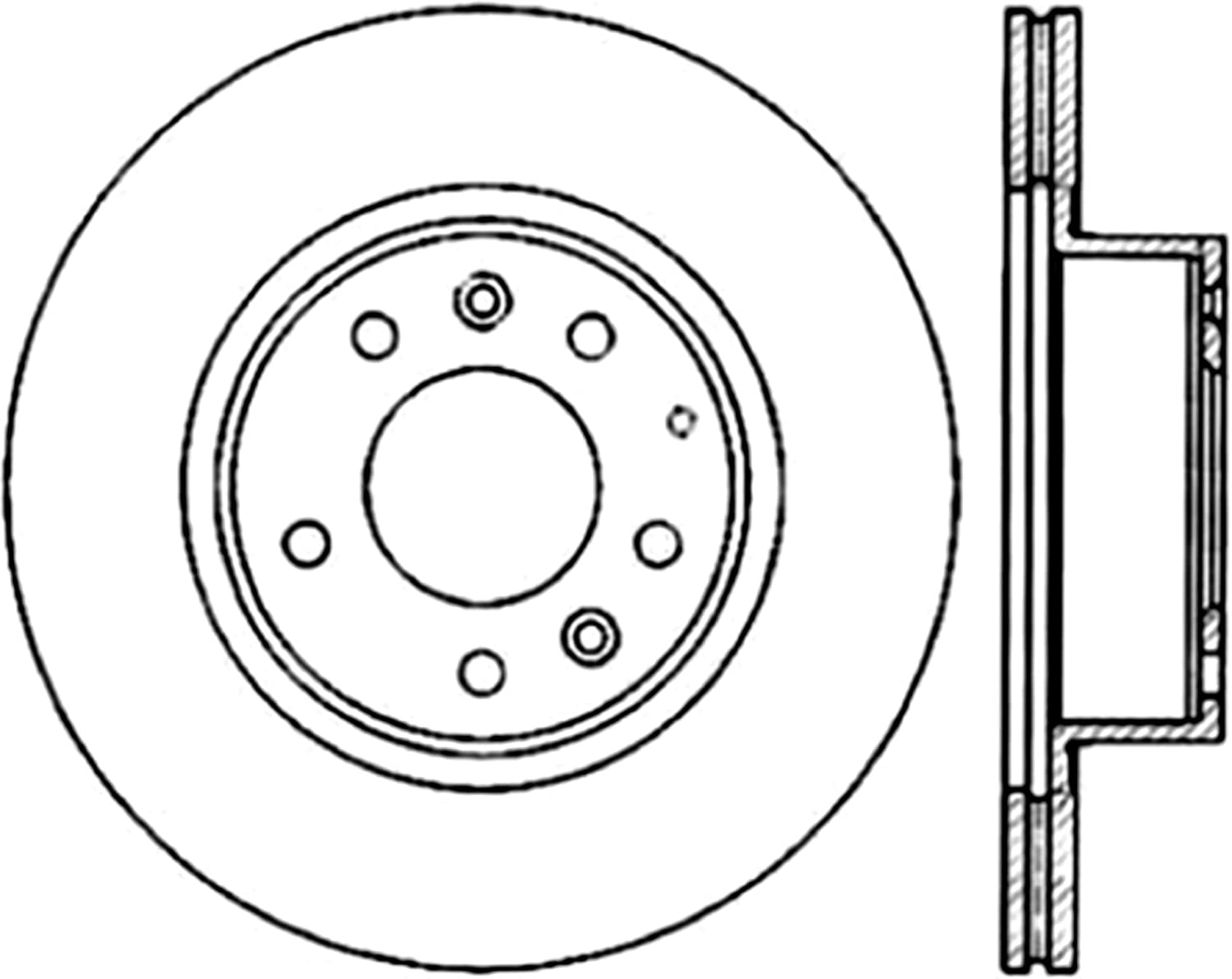 STOPTECH SPORTSTOP SLOTTED REAR BRAKE DISC ROTOR SET FOR 93-95 MAZDA RX-7 FD