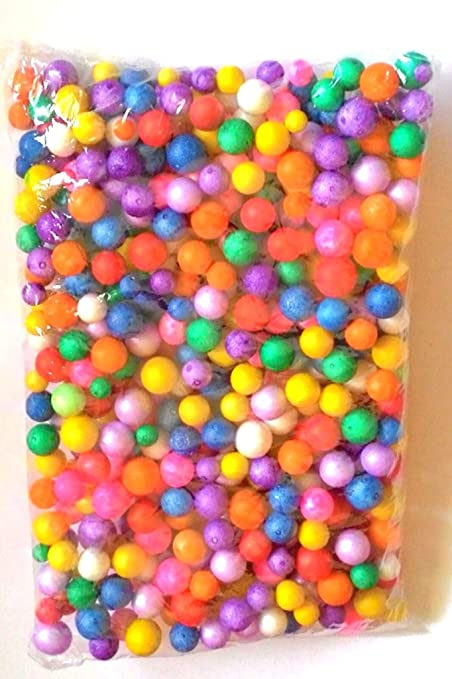 Thermocol Balls Multicolored Small 30 Gm Approx 2000 Pecs Used In Art