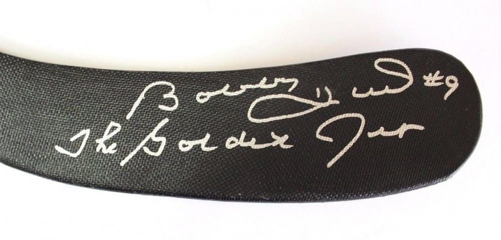 Bobby Hull Autographed Signed Full Size Hockey Stick Inscribed The Golden Jet JSA Certified