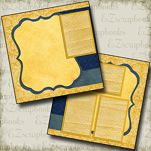 BEAUTY & BEAST INSPIRED - Premade Scrapbook Pages - EZ Layout 2002