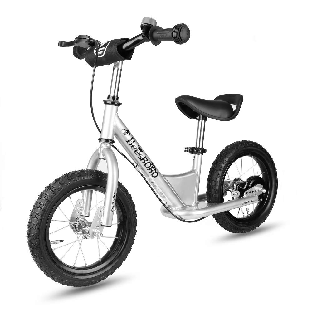 12 Balance Bike with Brake & Bell system for kids Toddles, No Pedal Training Walking Bicycle include Stand & Inflator, Adjustable Handlebar & Seat for Ages 2 to 6 Years Old SARKI