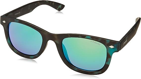 Polaroid PLD 8009/N K7 SED Gafas de sol, Verde (Havana Green/Green Grey Speckled Pz), 45 Unisex Niños