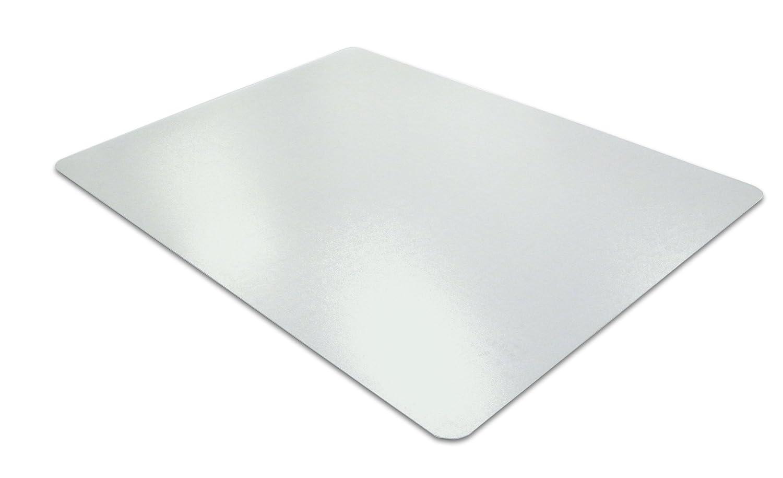 Desktex, proteggi scrivania in policarbonato con retro antiscivolo, rettangolare, 48x 61cm, trasparente. liscio con retro in PVC 43cm x 56cm Clear Floortex Europe Ltd FPDE1722V